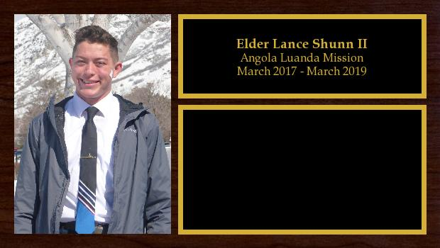 March 2017 to March 2019<br/>Elder Lance Shunn II