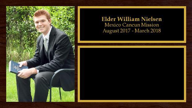 August 2017 to March 2018<br/>Elder William Nielsen