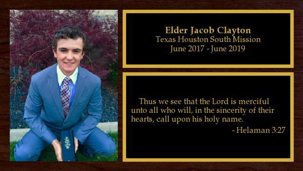 June 2017 to June 2019<br/>Elder Jacob Clayton