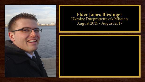 August 2015 to August 2017<br/>Elder James Biesinger