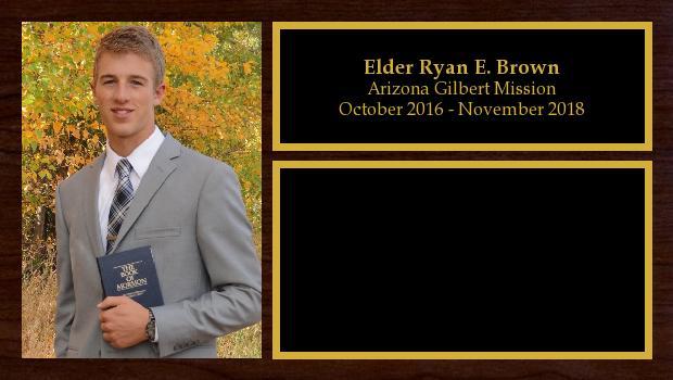 October 2016 to November 2018<br/>Elder Ryan E. Brown