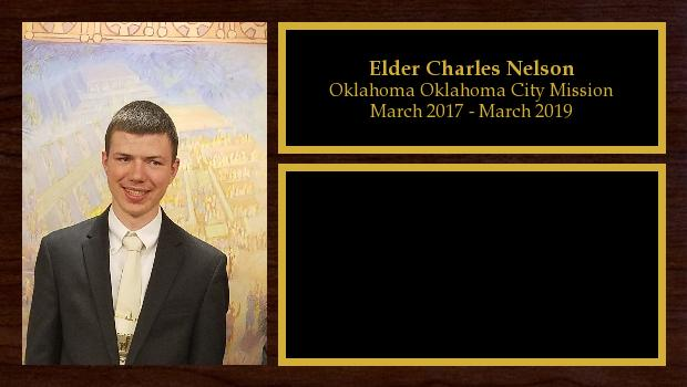March 2017 to March 2019<br/>Elder Charles Nelson