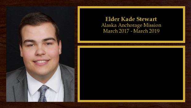 March 2017 to March 2019<br/>Elder Kade Stewart