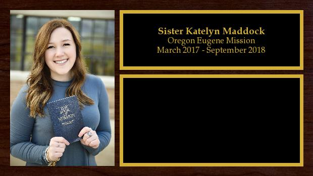 March 2017 to September 2018<br/>Sister Katelyn Maddock