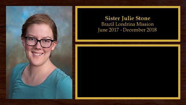 June 2017 to April 2018<br/>Sister Julie Stone