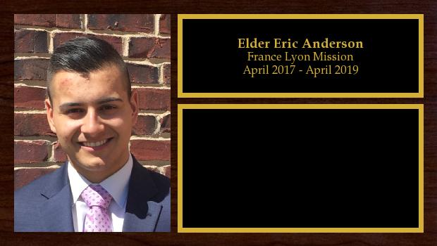 April 2017 to April 2019<br/>Elder Eric Anderson