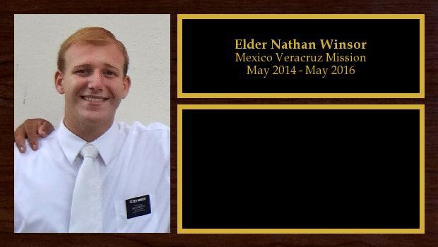 May 2014 to May 2016<br/>Elder Nathan Winsor