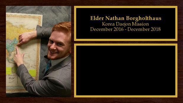 December 2016 to December 2018<br/>Elder Nathan Borgholthaus