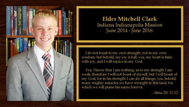 June 2014 to June 2016<br/>Elder Mitchell Clark