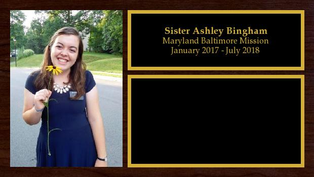 January 2017 to July 2018<br/>Sister Ashley Bingham