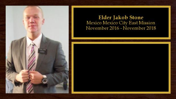 November 2016 to November 2018<br/>Elder Jakob Stone
