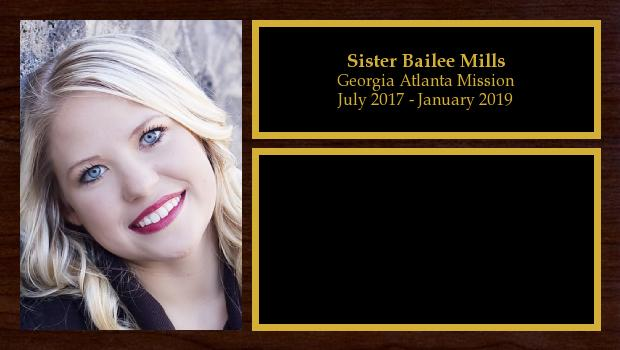 July 2017 to January 2019<br/>Sister Bailee Mills