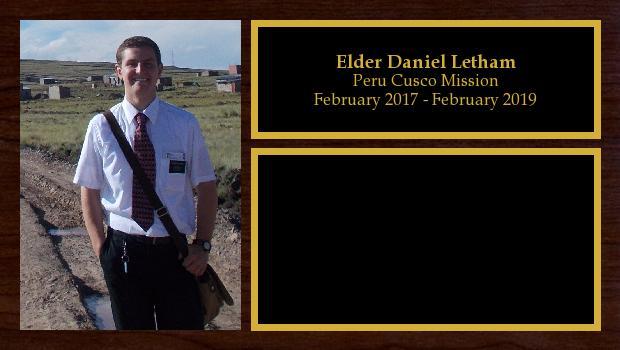 February 2017 to February 2019<br/>Elder Daniel Letham