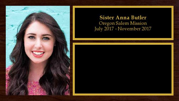 July 2017 to November 2017<br/>Sister Anna Butler