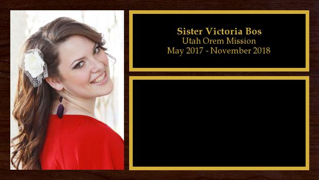 May 2017 to November 2018<br/>Sister Victoria Bos