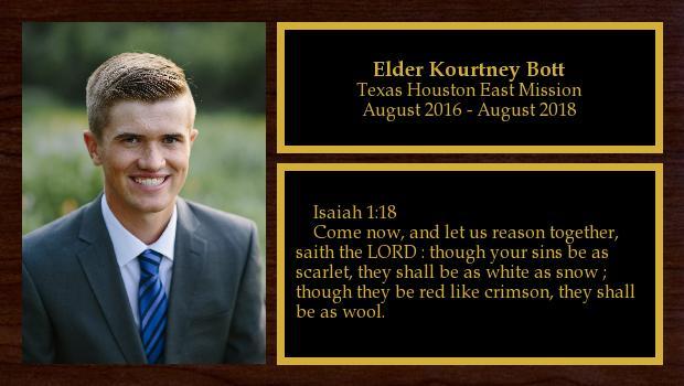 August 2016 to August 2018<br/>Elder Kourtney Bott
