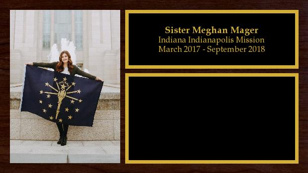 March 2017 to September 2018<br/>Sister Meghan Mager
