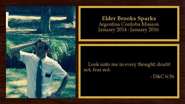 January 2014 to January 2016<br/>Elder Brooks Sparks