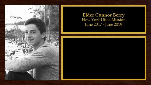 June 2017 to June 2019<br/>Elder Connor Berry
