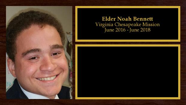 June 2016 to July 2018<br/>Elder Noah Bennett