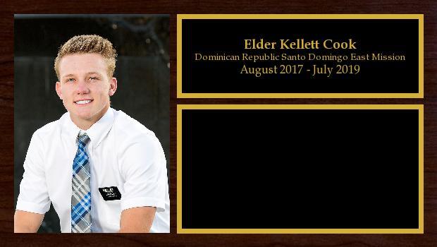 August 2017 to July 2019<br/>Elder Kellett Cook