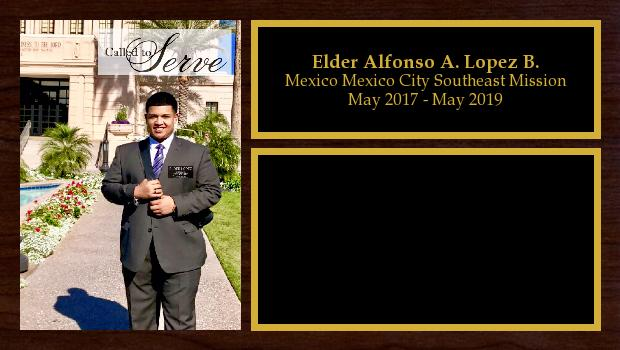 May 2017 to May 2019<br/>Elder Alfonso A. Lopez B.