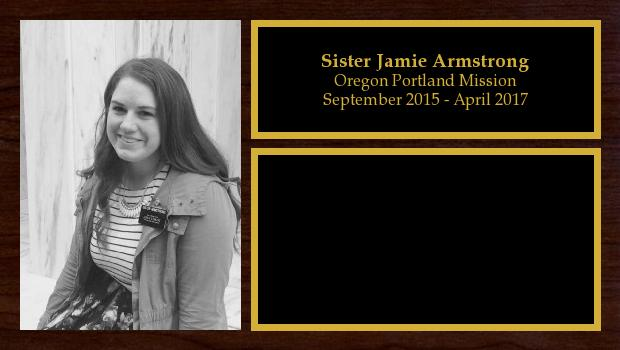 September 2015 to April 2017<br/>Sister Jamie Armstrong