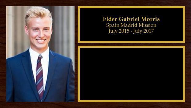 July 2015 to July 2017<br/>Elder Gabriel Morris