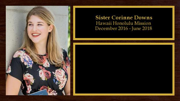 December 2016 to June 2018<br/>Sister Corinne Downs