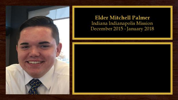 December 2015 to January 2018<br/>Elder Mitchell Palmer