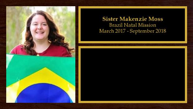 March 2017 to August 2018<br/>Sister Makenzie Moss