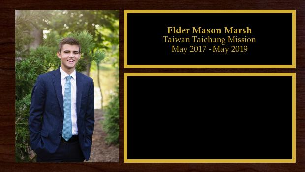 May 2017 to May 2019<br/>Elder Mason Marsh