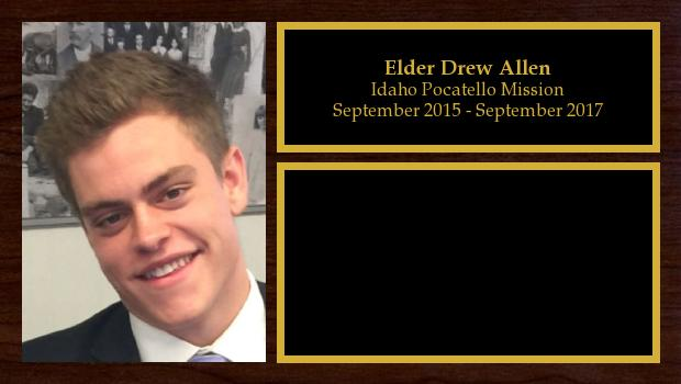 September 2015 to October 2017<br/>Elder Drew Allen