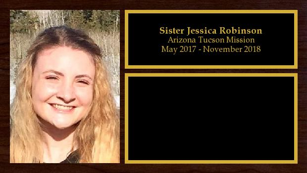 May 2017 to November 2018<br/>Sister Jessica Robinson
