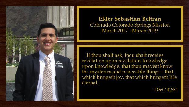 March 2017 to March 2019<br/>Elder Sebastian Beltran