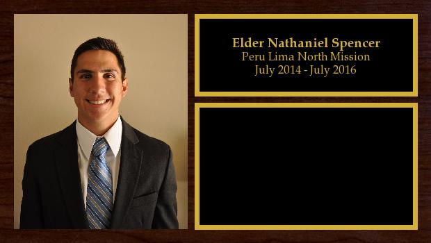 July 2014 to July 2016<br/>Elder Nathaniel Spencer
