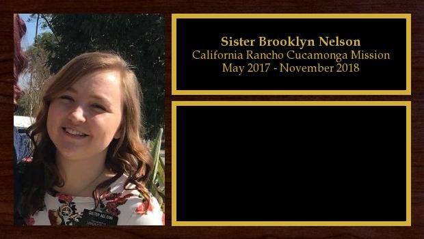May 2017 to November 2018<br/>Sister Brooklyn Nelson