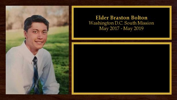 May 2017 to May 2019<br/>Elder Braxton Bolton