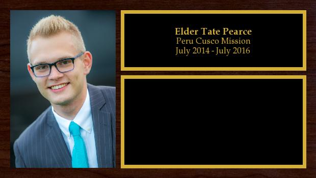 July 2014 to July 2016<br/>Elder Tate Pearce