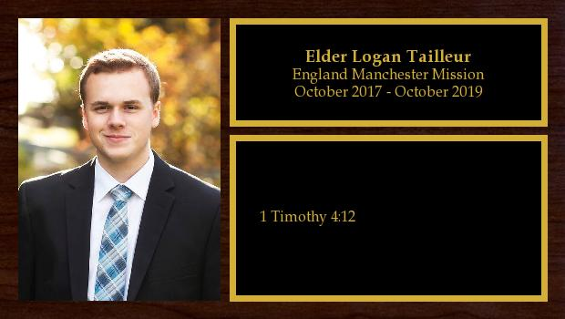 October 2017 to October 2019<br/>Elder Logan Tailleur