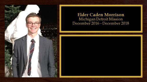 December 2016 to December 2018<br/>Elder Caden Morrison