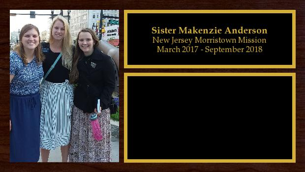 March 2017 to September 2018<br/>Sister Makenzie Anderson