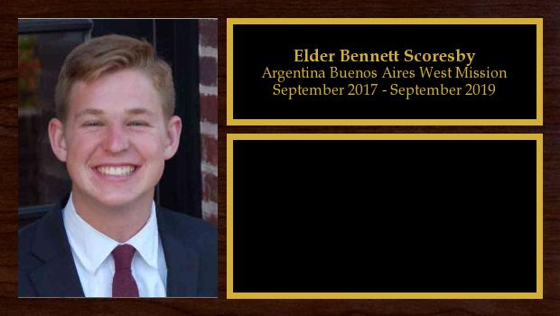 September 2017 to September 2019<br/>Elder Bennett Scoresby