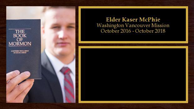 October 2016 to October 2018<br/>Elder Kaser McPhie