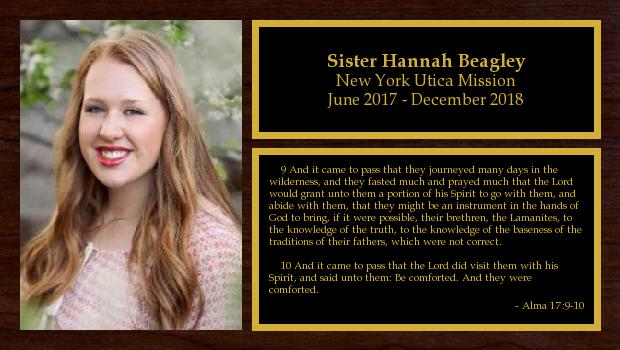 June 2017 to December 2018<br/>Sister Hannah Beagley