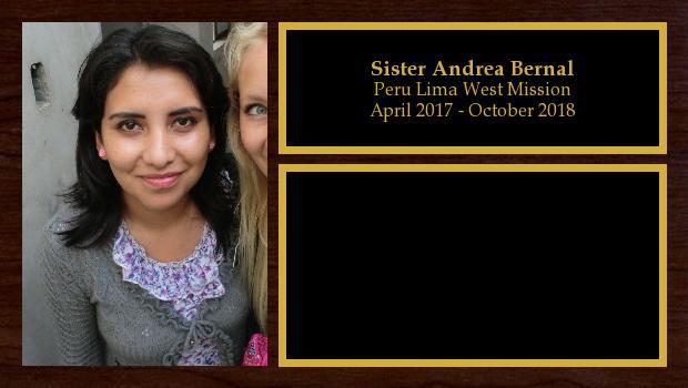 April 2017 to October 2018<br/>Sister Andrea Bernal