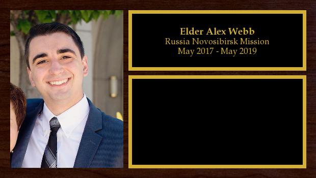 May 2017 to May 2019<br/>Elder Alex Webb