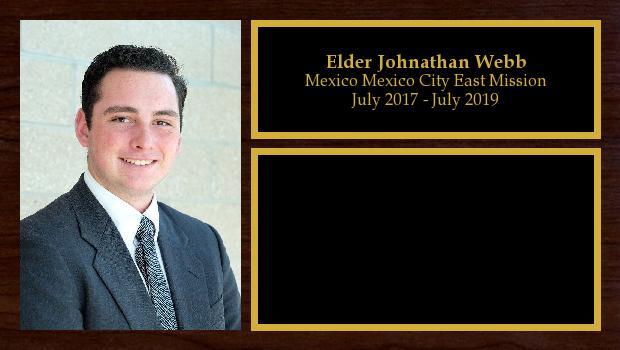 July 2017 to July 2019<br/>Elder Johnathan Webb