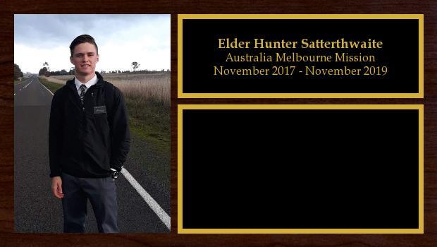 November 2017 to November 2019<br/>Elder Hunter Satterthwaite