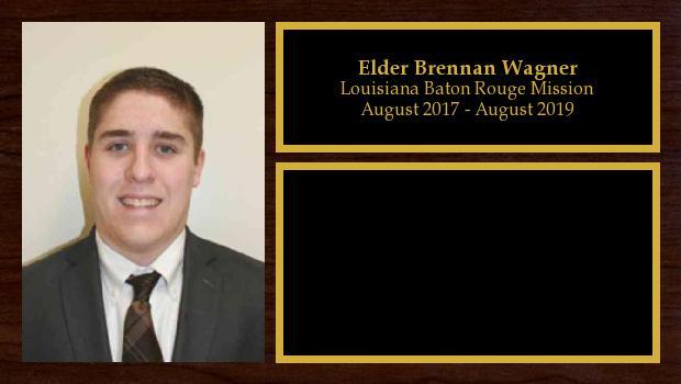 August 2017 to August 2019<br/>Elder Brennan Wagner